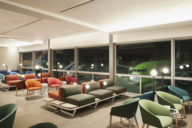 BRANDY chairs by Lievore Altherr Molina for Andreu World at the Johannesburg Airport in South Africa. Photo courtesy of Andreu World.