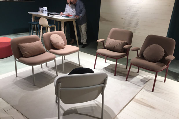 Lana seating collection designed by Yonoh at Ondarreta stand
