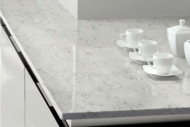 Nebula Alpha collection by Silestone in Blanco Orion