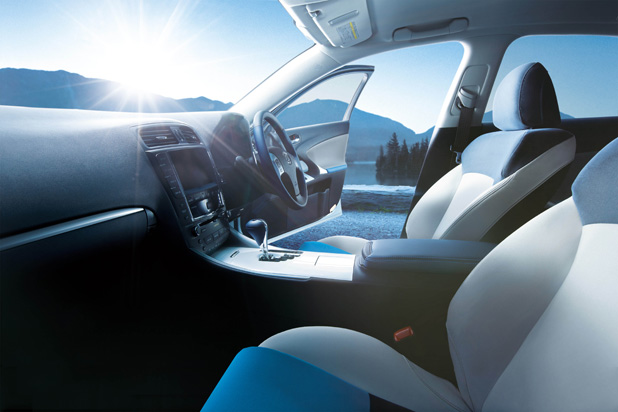 Design of the interiors of car manufacturer Lexus's GS, IS and RX models
