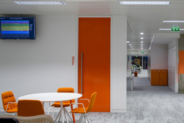 Viccarbe´s furniture at Hostelworld's HQ in Dublin, Ireland