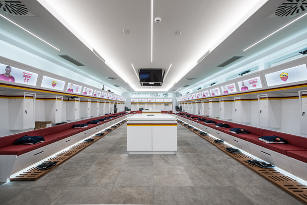 Porcelanosa Group at the A.S. Roma Sports Centre.