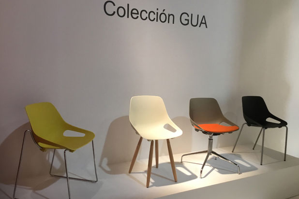 Gua chair collection at Industrias Tagar stand