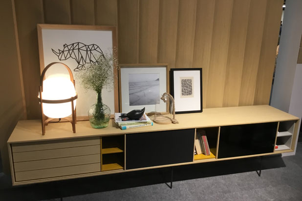 Aura collection by Treku and Cest lamp by Santa Cole at Treku stand