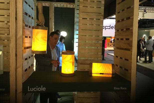 Luciole portable lamp by Plussmi Brand at Massmi stand