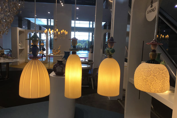 Mademoiselle lamp collection at Lladró exhibition