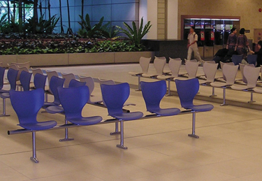 Gorka bench at the Chang´s Airport in Singapore