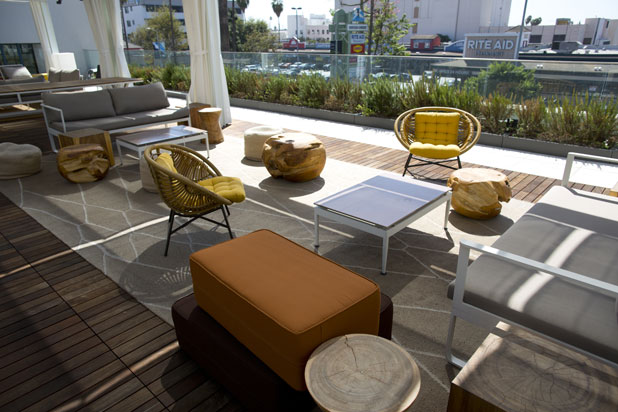 NOW Carpets rugs cover the rooftop of NeueHouse Hollywood