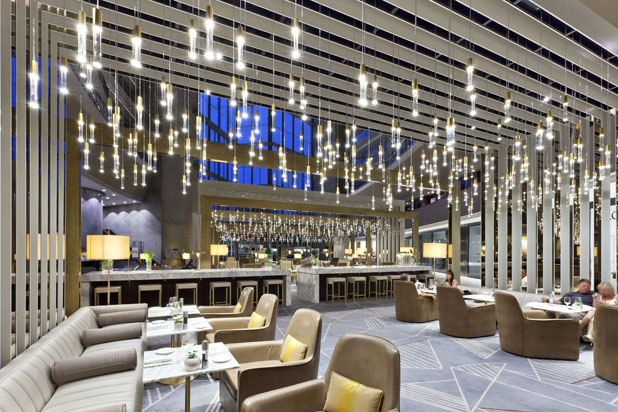 LEDS-C4 lights at the Fairmont Rey Juan Carlos I Hotel in Barcelona, Spain