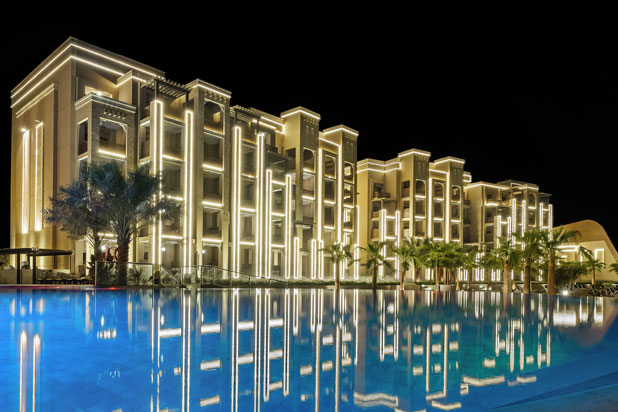 LEDS-C4 lights at the Doubletree By Hilton Hotel in Ras Al Khaimah (UAE)