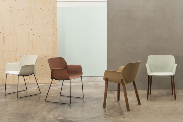 NUEZ chairs by Patricia Urquiola for Andreu World. Photo courtesy of Andreu World.