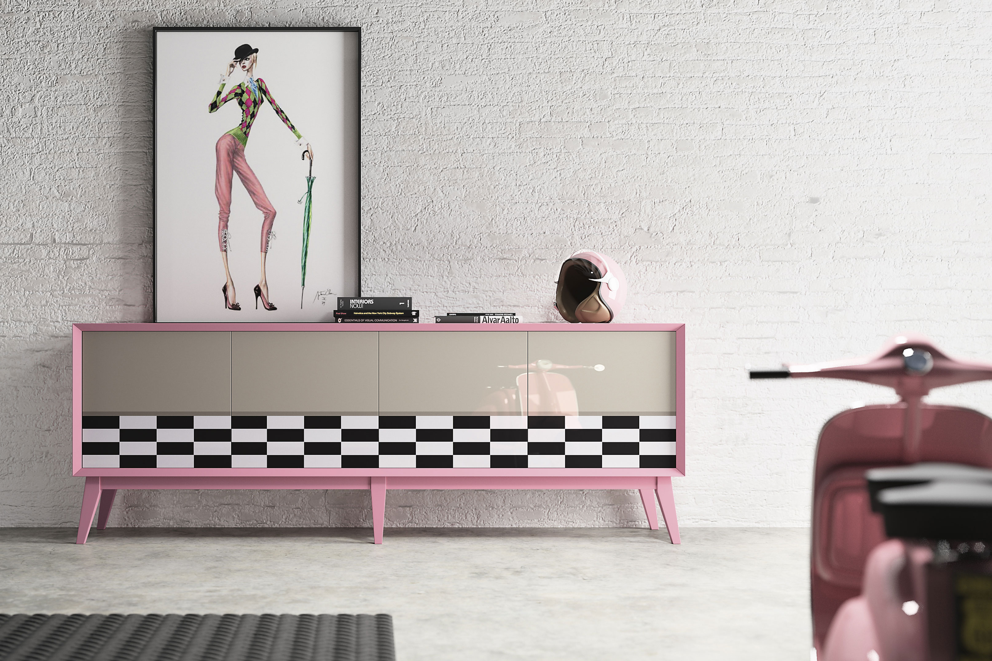 POP sideboard by La Ebanistería. Photo: Courtesy of La Ebanistería.