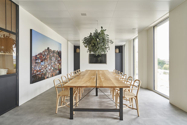 Fontal chairs at the Digital Luxury headquarters in Geneva, Switzerland. Photo: Courtesy of Digital Luxury Group