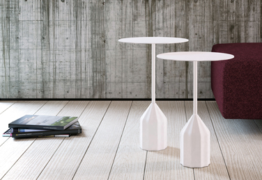 Burin auxiliary table, designed by Patricia Urquiola