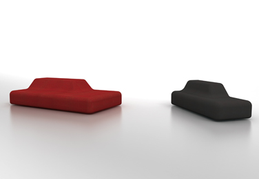 Season upholstered bench, designed by  Piero Lissoni