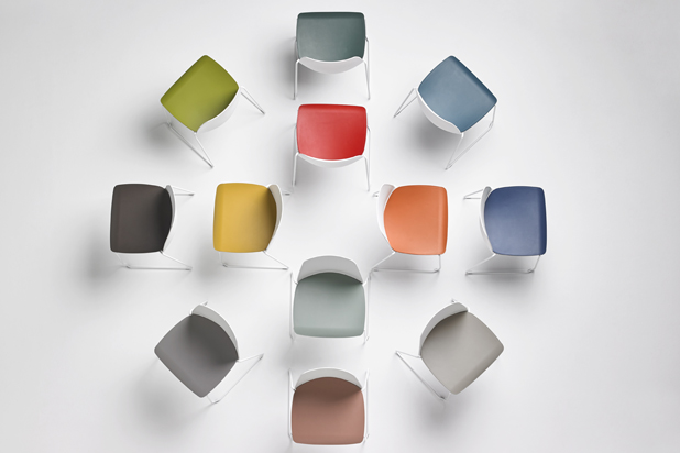 UNNIA chairs, new colours, by Simon Pengelly for Inclass