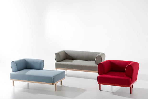 ZIP sofa and armchair collection, designed by Edeestudio for B&V