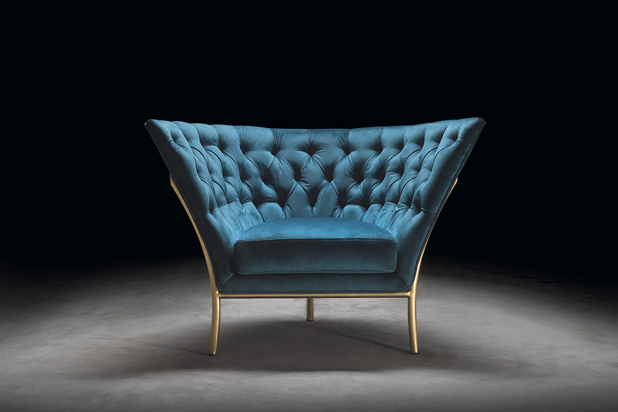FLUTE armchair, designed by Michele Mantovani for Colección Alexandra