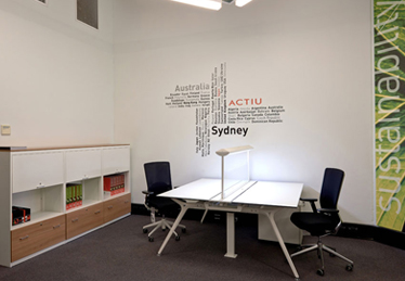 Actiu´s showroom in Sydney