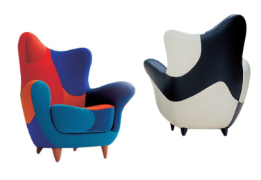 Emblematic Alexandra chair for Moroso