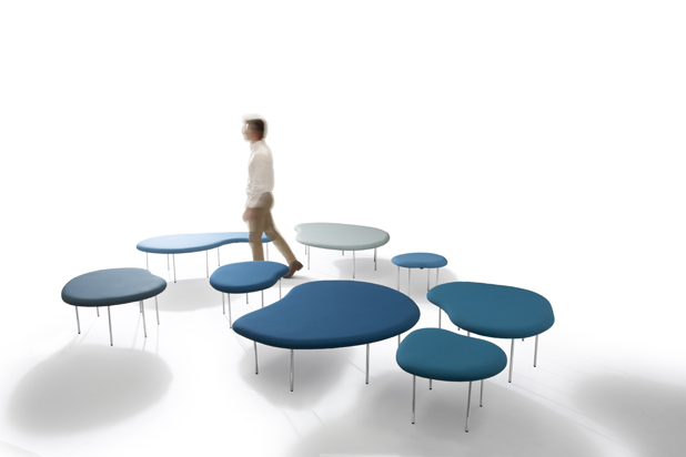 DROPLETS stools Claesson Koivisto Rune Architects for Capdell. Photo: Courtesy of Capdell