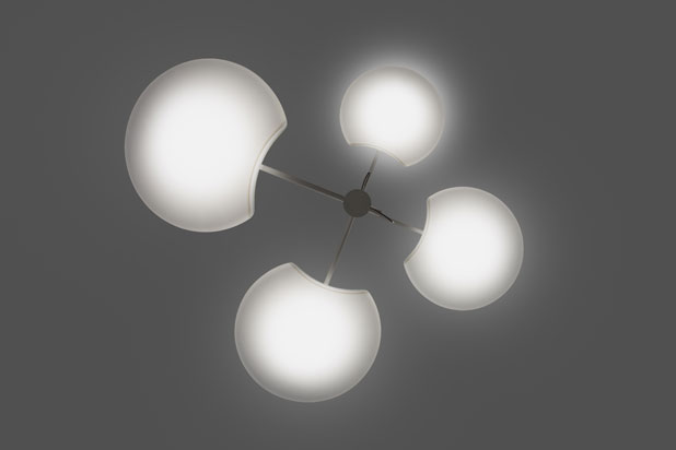 SUPER MOON hanging and ceiling lamp, designed by Josep Novell & Ernest Perera for AlmaLight
