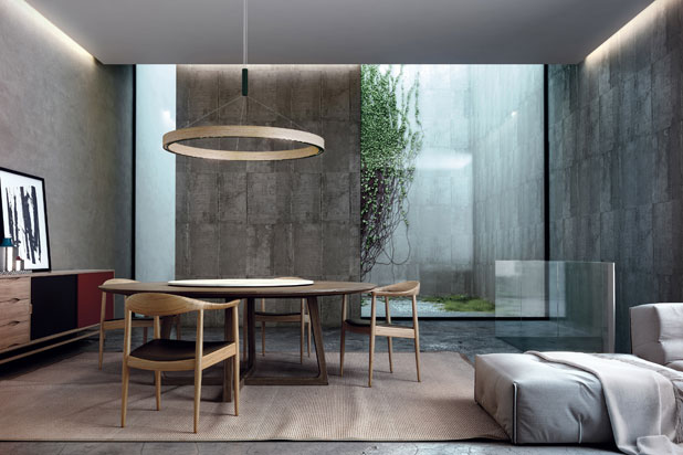 R2 hanging light, designed by David Abad for B.lux
