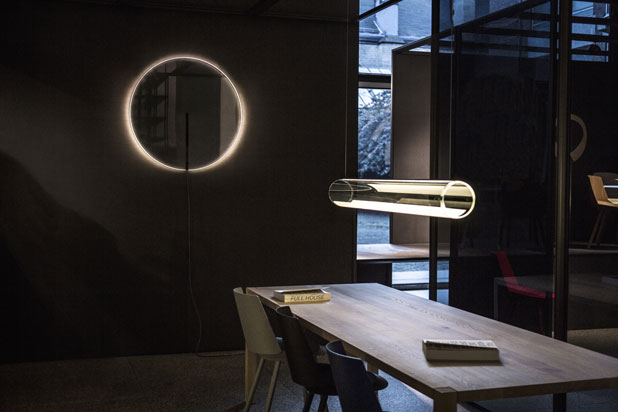 GUISE wall, table and hanging lamps, designed by Stefan Díez for Vibia