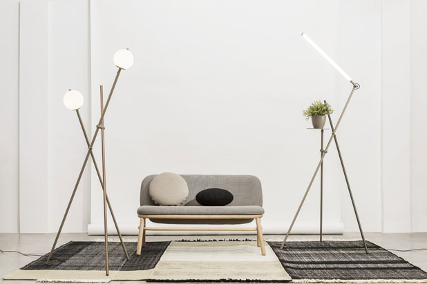ASANA floor lamps by OiKo design for Estiluz. Photo: Courtesy of Estiluz