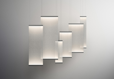 Curtain pendant lights, designed by Arik Levy