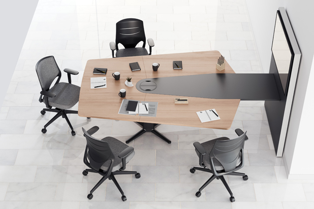 POWER table by ITEMdesignworks for Actiu. Photo: Courtesy of Actiu