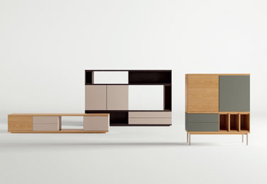 Slats storage units, designed by Marc Krusin