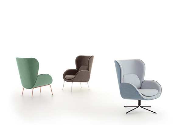 NORMAN armchairs, designed by Savage Studio for Carmenes