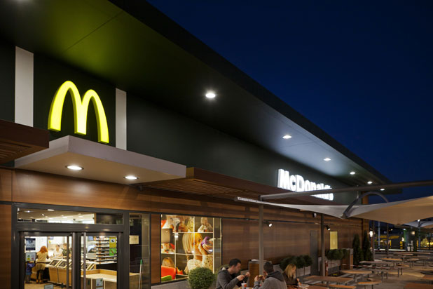 LEDS-C4 GEA outdoor lights at Mc Donald in Sabadell, Spain