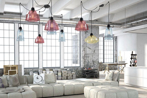 COLOR hanging lamps, designed by Lluscà