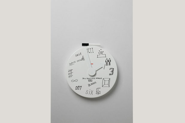 Blank wall clock for Alessi, 2010. Photo by Inga Knölke/Imagekontainer