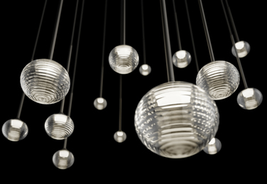 Algorithm pendant lights, designed by Toan Nguyen