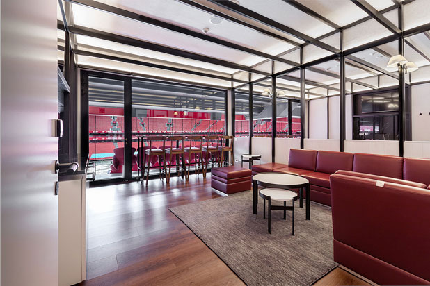 nanimarquina rugs in the VIP section of the San Mames football stadium in Bilbao