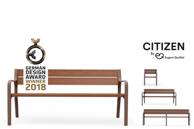 CITIZEN bench, designed by Eugeni Quitllet for Benito Urban