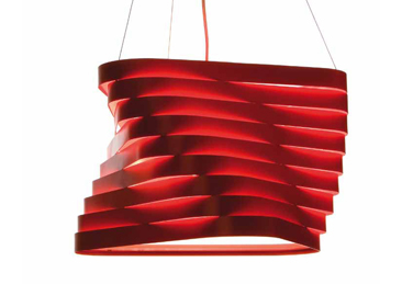 BOOMERANG pendant light, designed by Luis Eslava studio