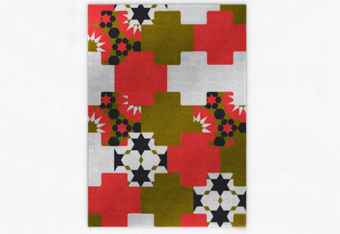 Mosaico rug from the Nurbs range, Designed by edeestudio