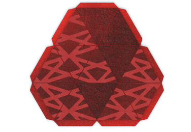 Piramide rug from the Nurbs range, designed by edeestudio