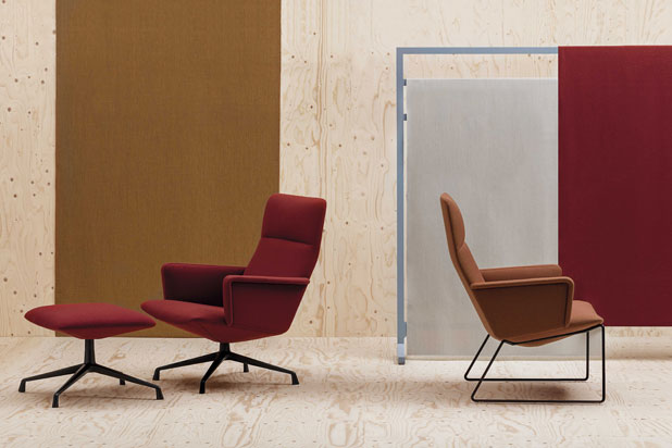 CAPRI LOUNGE armchair, designed by Piergiorgio Cazzaniga for Andreu World