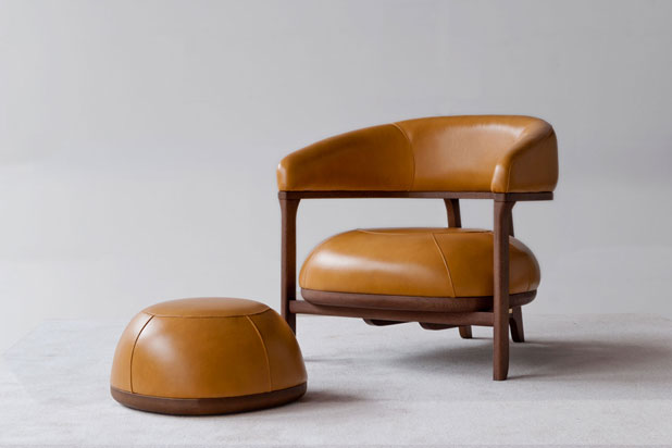 Armchair and pouff. Fortune II collection