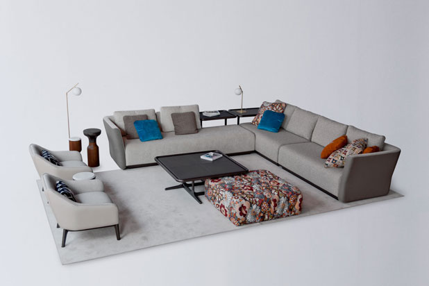 Sofa, armchairs and table. Fortune II collection