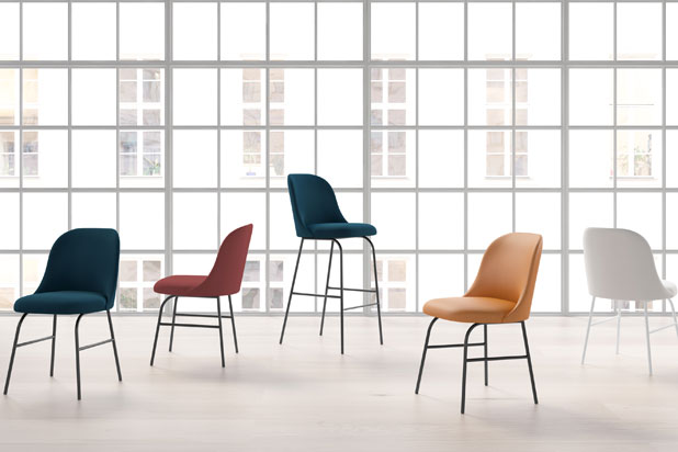 ALETA  chair collection, designed by Jaime Hayón for Viccarbe