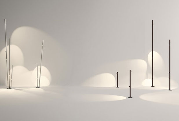 BAMBOO garden lighting by Antoni Arola and Enric Rodríguez for Vibia. Photo by Vibia, courtesy of Estudi Antoni Arola