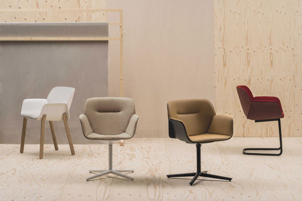 NUEZ chair collection, designed by Patricia Urquiola for Andreu World