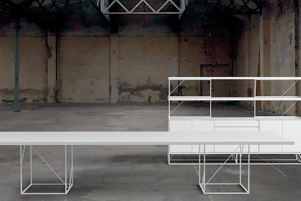WO table, designed by Gabriel Teixidó for Aridi