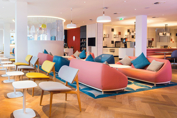 Sancal furniture in Virgin Atlantic's VIP lounge at Gatwick airport
